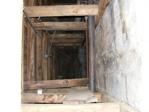 Interior view: supporting beams