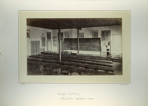 Chapel Building, chemistry recitation room, Massachusetts Agricultural College