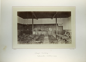 Chapel Building, Mathematics recitation room, Massachusetts Agricultural College