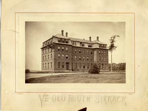 Ye old South Barrack [South College, Massachusetts Agricultural College]