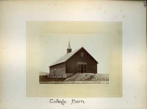 College barn, Massachusetts Agricultural College
