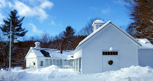 Rowe Historical Society: exterior view in the snow