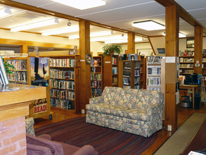 Rowe Town Library: interior view of seating area