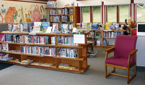 Rowe Town Library: interior view of book stacks