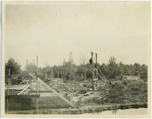 Construction of Dam #1, Harold Parker State Forest
