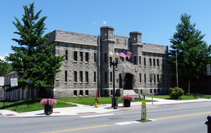 Adams Armory (1914): view of the front from across the street