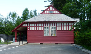 M. N. Spear Public Library, Shutesbury Mass.: exterior side view