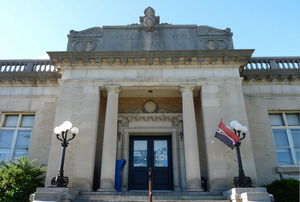 Wheeler Memorial Library, Orange, Mass.: front entrance