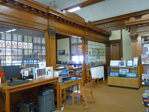 Wheeler Memorial Library, Orange, Mass.: interior view