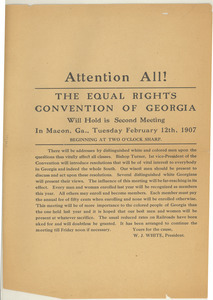 Second meeting of the Equal Rights Convention of Georgia announcement