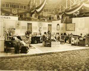 Department of Mental Diseases occupational therapy exhibit booth
