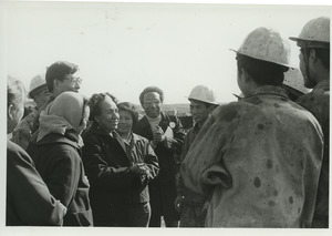 Shirley Graham and David Du Bois with oil workers