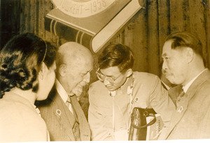 W. E. B. Du Bois speaking with Chinese delegates at Afro-Asian Writers Conference, Tashkent