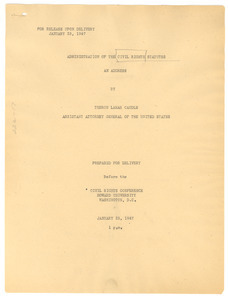 Administration of the Civil Rights Statutes