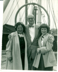 Carl and Nettie Halpern with daughter Helen on the Crna Gora