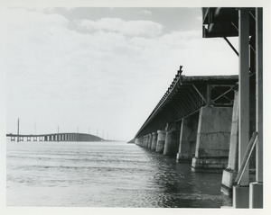Old and new bridge at Pigeon Island