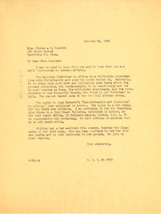 Letter from W. E. B. Du Bois to Florence H. Luscomb