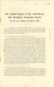Annual report of the Anti-slavery and Aborigines Protection Society