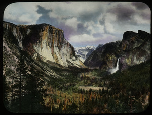 Yosemite Valley: El Capitan and Bridalveil Fall in distance
