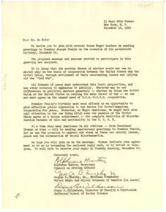 Letter from Alphaeus Hunton, George B. Murphy, Jr., and Doxey A. Wilkerson to W. E. B. Du Bois