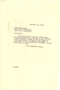 Letter from W. E. B. Du Bois to Fisk University Publicity Department