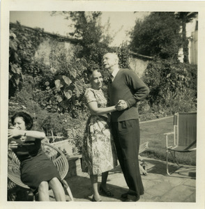 Donald Ogden Stewart dancing with Shirley Graham Du Bois in Hampstead