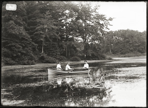 Boating on a pond, Greenwich, Mass.