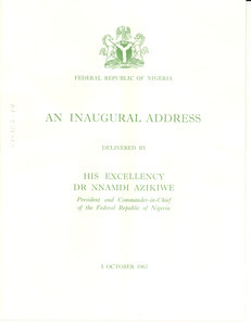 An inaugural address