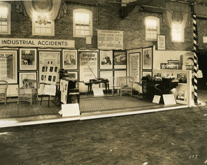 Department of Industrial Accidents exhibit booth