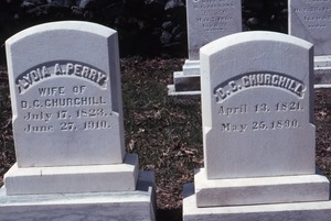 Lyme (New Hampshire) gravestone: Perry, Lydia and Churchill, D.C.