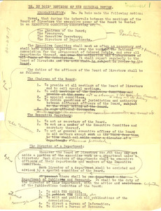 Dr. Du Bois' revision of his original motion