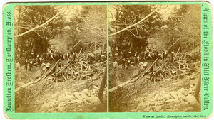 No. [95]. View at Leeds: Workmen searching for bodies near Cook's dam