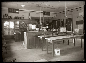 Home Economics laboratory and products, Massachusetts Agricultural College