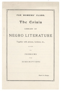 The Crisis library of Negro literature