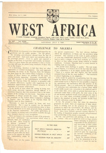 West Africa no. 1637 vol. 32