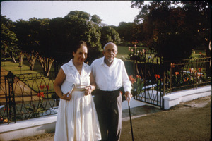 W. E. B. Du Bois and Shirley Graham Du Bois in their garden at their home in Accra, Ghana