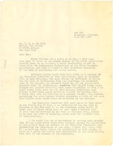 Letter from H. M. Bond to W. E. B. Du Bois