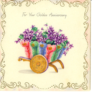 Anniversary card from Mr. & Mrs. J. Douglass Shepperd to W. E. B. and Nina Du Bois