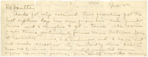 Letter from George Streator to Matthew V. Boutte