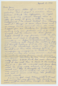 Letter from Katherine Irey to June Kessel
