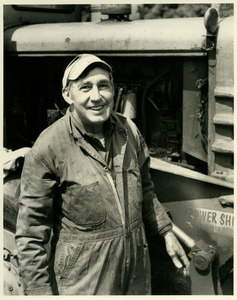 Walter Allen and railroad vehicle