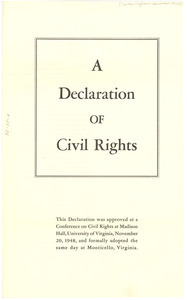 A declaration of civil rights