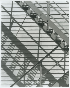 Fire escape with shadow