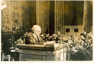 W. E. B. Du Bois addressing Afro-Asian Writers Conference, Tashkent, 1958