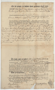 Deed transfer from Moses Hopkins to Charles W. Hopkins