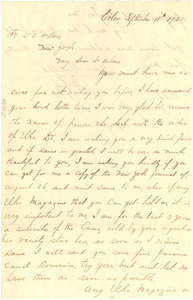 Letter from J. A. Wynt to W. E. B. Du Bois