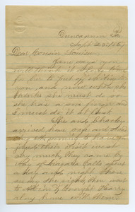 Letter from Samp King to Louisa Gass