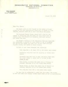 Letter from Democratic National Committee to Lillian Hyman