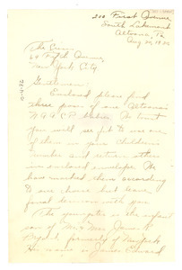 Letter from Inez S. Bryant to the Crisis