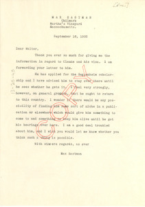 an overview of a claude mckay letter to max eastman